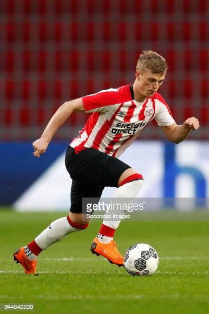 Albert Gudmundsson of PSV U23 during the Dutch Jupiler League match between PSV U23 v Go Ahead Eagles at the De Herdgang on April 10 2018 in...