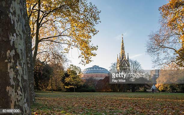Albert Hall and Albert Memorial from Kensington Gardens.