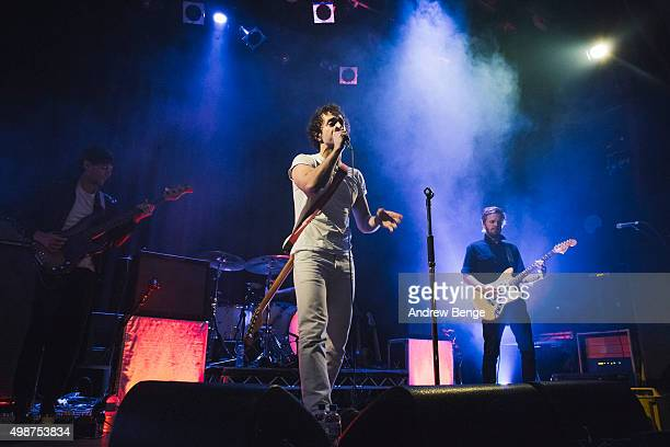 Albert Hammond Jr performs on stage at Islington Assembly Hall on November 25 2015 in London England