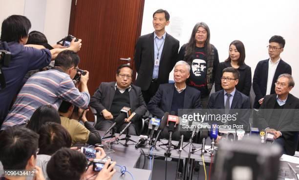 Albert Ho Chunyan Rev Chu Yiuming Chan Kinman and Joseph Cheng YuShek lawmakers Edward Yiu Chungyim Leung Kwokhung Lau Siulai and Nathan Law...