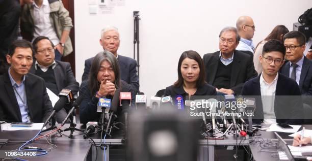 Albert Ho Chunyan Rev Chu Yiuming Joseph Cheng YuShek and Chan Kinman Edward Yiu Chungyim Leung Kwokhung Lau Siulai and Nathan Law Kwunchung attend a...