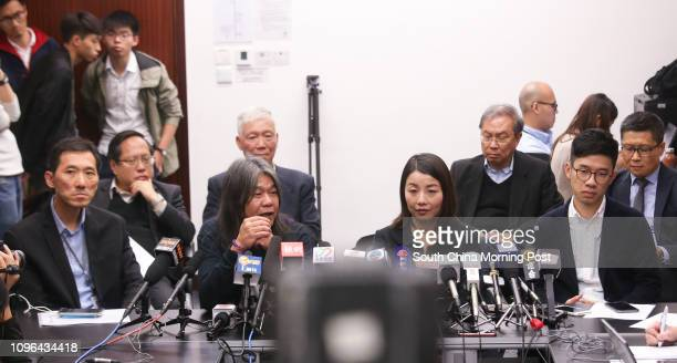 Albert Ho Chunyan Rev Chu Yiuming Joseph Cheng YuShek and Chan Kinman lawmakers Edward Yiu Chungyim Leung Kwokhung Lau Siulai and Nathan Law...
