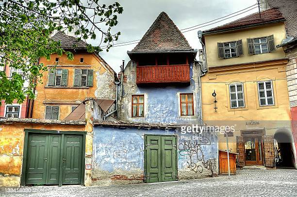 albert huet square hermannstadt - sibiu stock photos and pictures