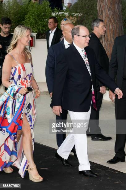 Albert II, Prince of Monaco and Sonia Irvine attend the Amber Lounge Fashion Monaco 2017 at Le Meridien Beach Plaza Hotelon May 26, 2017 in Monaco,...