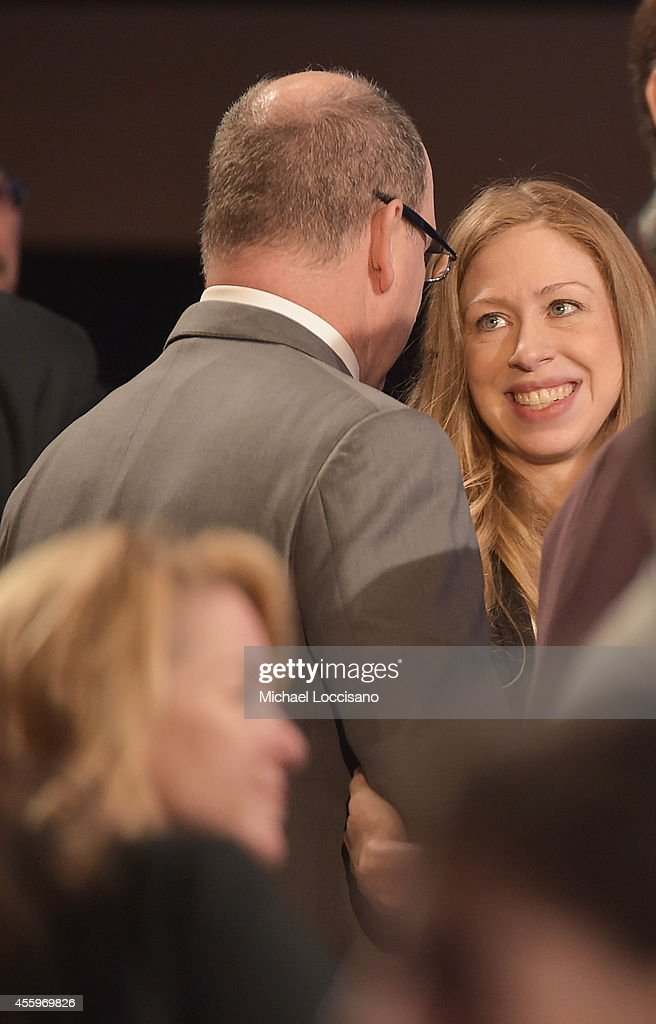 Albert II, Prince Of Monaco, and Vice chair of the Clinton Foundation Chelsea Clinton attend 10th Annual Meeting of the Clinton Global Initiative at The at Sheraton New York Hotel & Towers on September 22, 2014 in New York City.