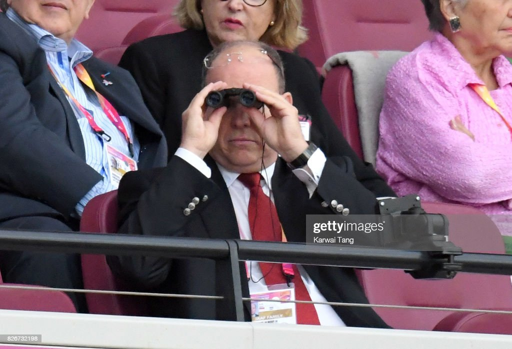 Albert II, Prince of Monaco attends day two of the IAAF World Athletics Championships at the London Stadium on August 5, 2017 in London, United Kingdom.