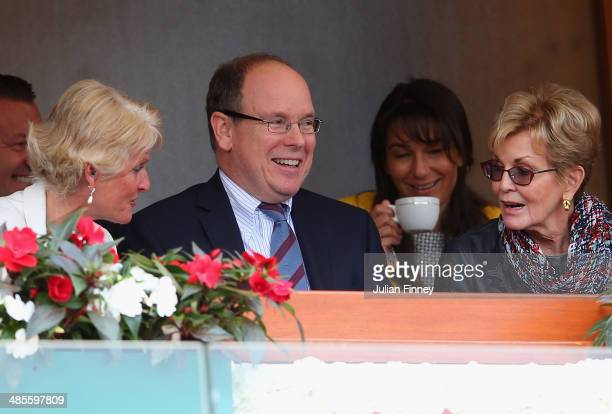 Albert II Prince of Monaco attends play during day seven of the ATP Monte Carlo Rolex Masters Tennis at MonteCarlo Sporting Club on April 19 2014 in...