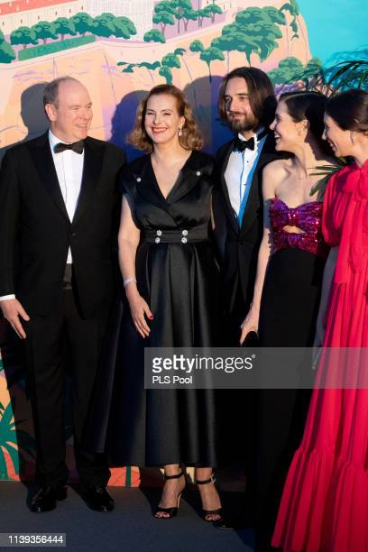 Albert II Prince of Monaco Carole Bouquet Dimitri Rassam Charlotte Casiraghi and Tatiana Casiraghi attend the Rose Ball 2019 to benefit the Princess...
