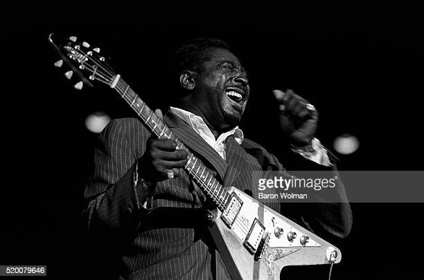 Albert King on stage during the Memphis Blues Festival June 1969