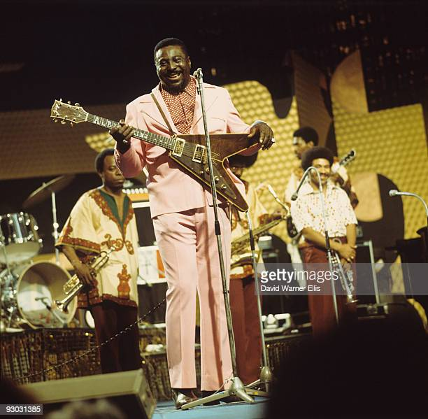 Albert King performs on stage at the Montreux Jazz Festival held in Montreux Switzerland on July 01 1973