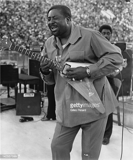 Albert King performs on stage at the Wattstax festival Los Angeles Coliseum 20th August 1972