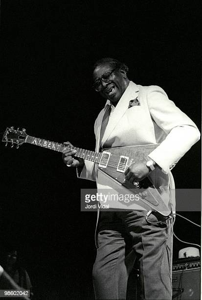 Albert King performs on stage during the Blues i Ritmes Festival at Parc Can Solei on July 8 1991 in Badalona Spain