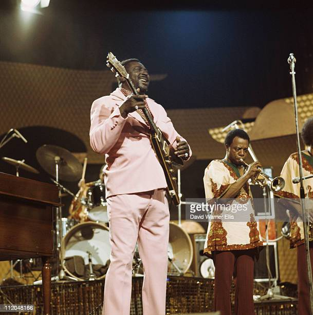 Albert King US blues guitarist and singer performing during the Montreux Jazz Festival held in Montreux Switzerland on 1 July 1973