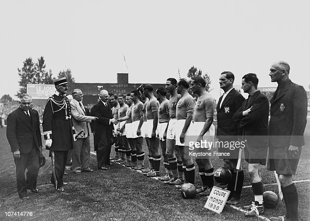 Albert Lebrun At The Football World Cup Final In June 19Th 1938