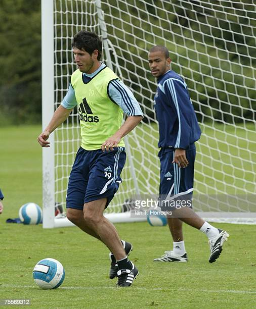 Albert Luque during a Newcastle United training session at Newcastle training centre in Little BentonNewcastle on July 20 2007 in Newcastle England