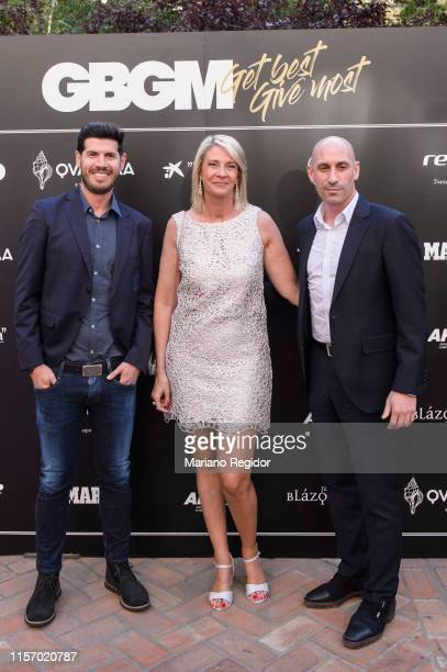 Albert Luque Laura Falcó Lara and Luis Rubiales attend 'Get Best Give Most' Charity Party on June 19 2019 in Madrid Spain