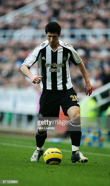 ENGLAND Albert Luque of Newcastle United during the Barclays Premiership match between Newcastle United and Blackburn Rovers at St James' Park on...