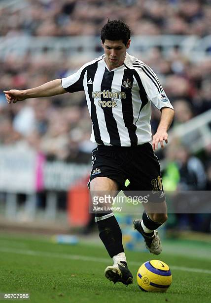 Albert Luque of Newcastle United in action during the Barclays Premiership match between Newcastle United and Blackburn Rovers at St James' Park on...