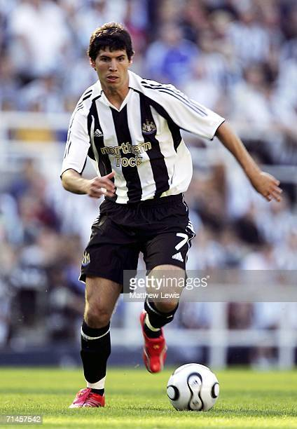 Albert Luque of Newcastle United in action during the Intertoto Cup 3rd round match between Newcastle United and Lillestrom at St James Park on July...