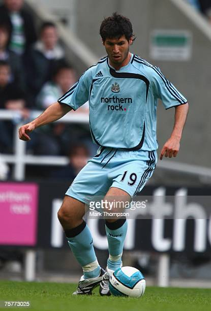 Albert Luque of Newcastle United in action during the Pre season friendly match between Newcastle United and Celtic at St James' Park on July 26 2007...