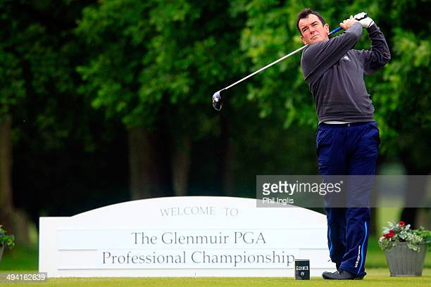 Albert Mackenzie of Saunton Golf Club drives from the first tee during the Glenmuir PGA Professional Championship - West Region played at Bowood Golf...