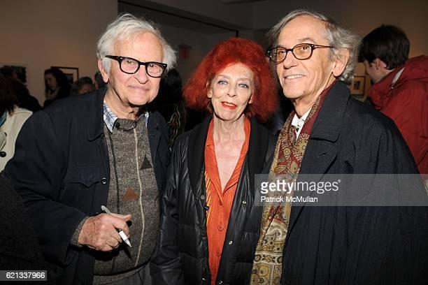 Albert Maysles, Jeanne-Claude and Christo attend In Memoriam: Jeanne-Claude Denat de Guillebon 1935 ñ 2009 at Steven Kasher Gallery on February 15,...
