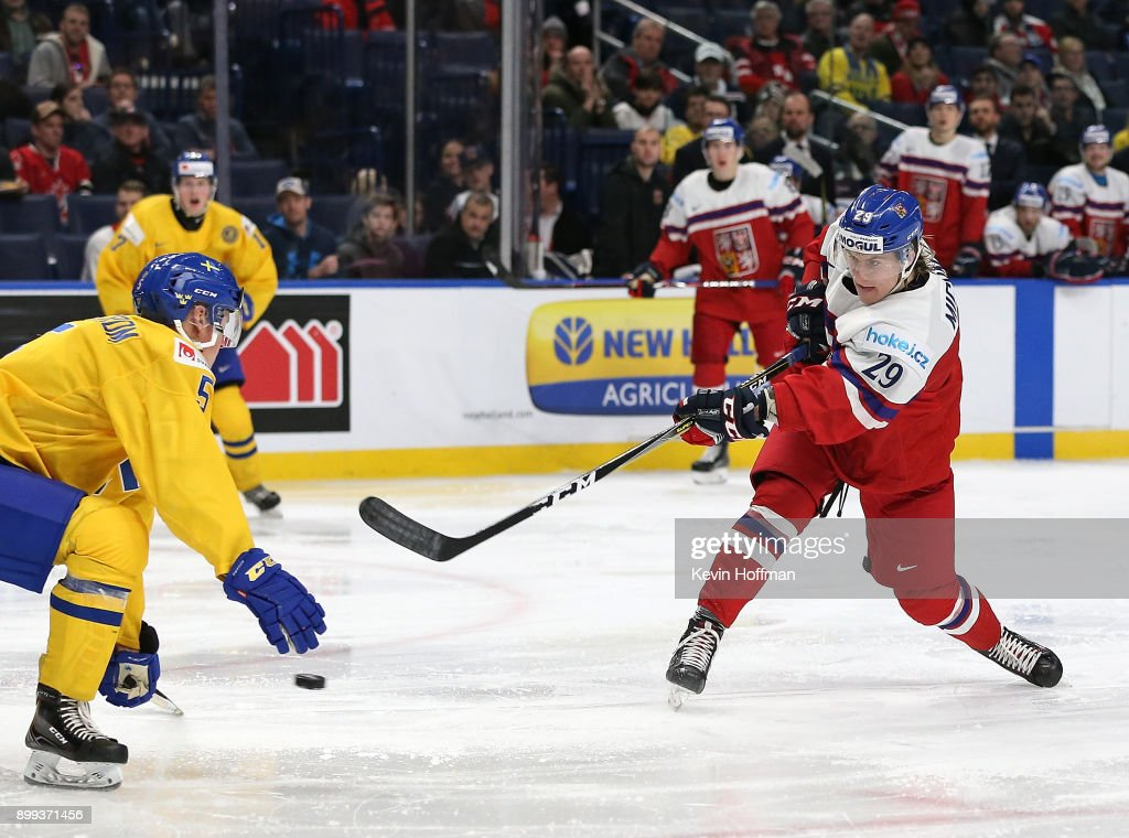 Sweden v Czech Republic - 2018 IIHF World Junior Championship : News Photo