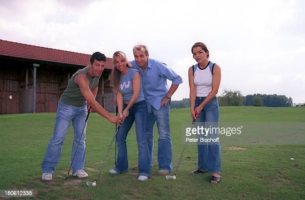 Albert Oberloher Iris Criens Andreas Lebbing Nastasja Marinkovic Mitglieder der Musik Gruppe Wind Bad Abbach Homestory Golf Golfplatz Golfschläger...