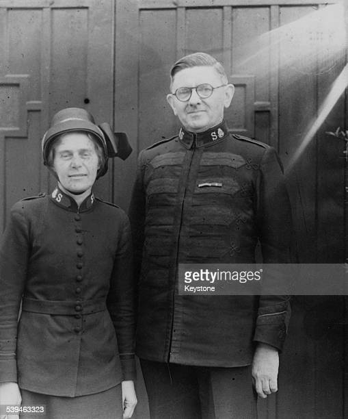 Albert Orsborn British Commissioner of the Salvation Army upon his engagement to Evelyn Berry a Major in the organisation May 1944 Berry is the...