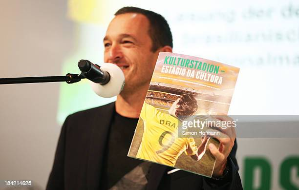 Albert Ostermeier attends the reading by the author's national teams of Germany and Brasil at Frankfurt Book Fair on October 12 2013 in Frankfurt am...