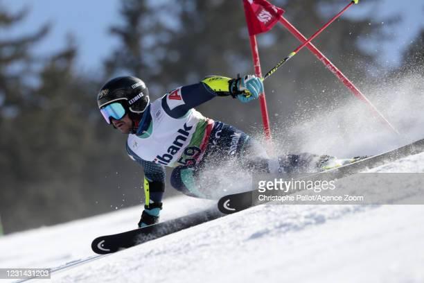 Albert Popov of Bulgaria in action during the Audi FIS Alpine Ski World Cup Men's Giant Slalom on February 28, 2021 in Bansko Bulgaria.