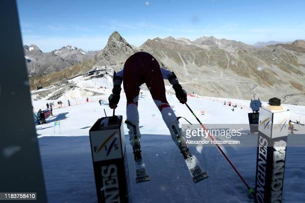 Albert Popov of Bulgaria starts at the Audi FIS Alpine Ski World Cup Men's Giant Slalom at Rettenbachferner on October 27, 2019 in Soelden, Austria.