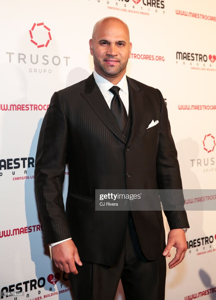 Albert Pujols attends the Maestro Cares Foundation's Fourth Annual Changing Lives/Building Dreams Gala at Cipriani Wall Street on March 21, 2017 in New York City.