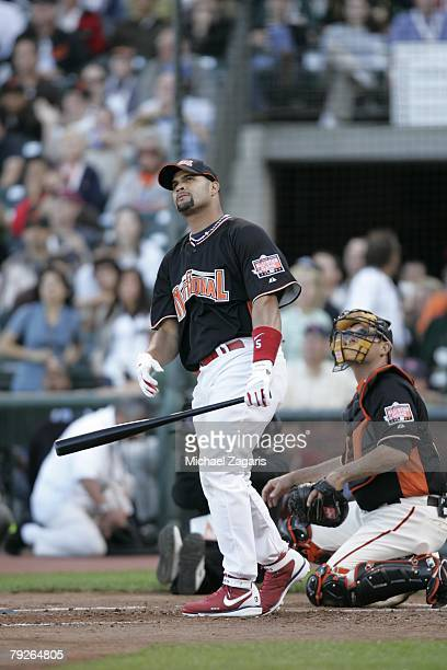 Albert Pujols of the St Louis Cardinals bats during the Home Run Derby at ATT Park in San Francisco California on July 9 2007