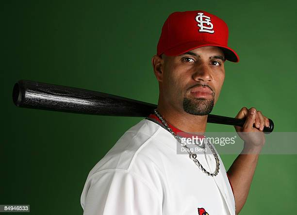 Albert Pujols of the St Louis Cardinals during photo day at Roger Dean Stadium on February 20 2009 in Jupiter Florida