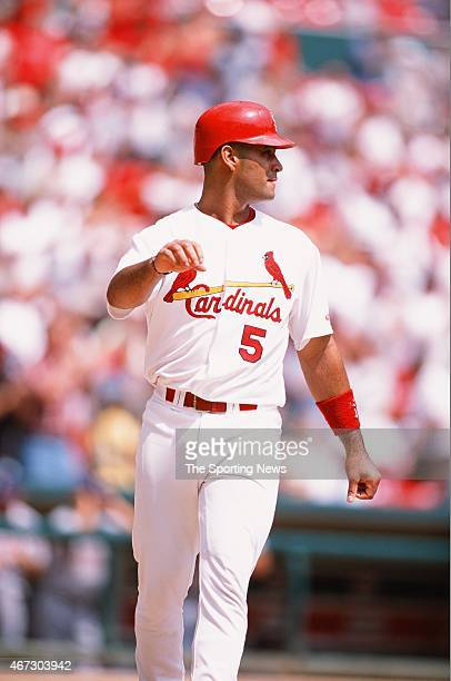 Albert Pujols of the St Louis Cardinals looks on against the San Diego Padres on August 30 2001