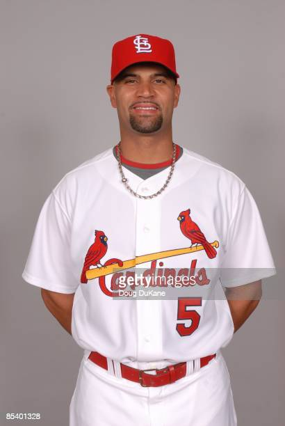 Albert Pujols of the St Louis Cardinals poses during Photo Day on Friday February 20 2009 at Roger Dean Stadium in Jupiter Florida