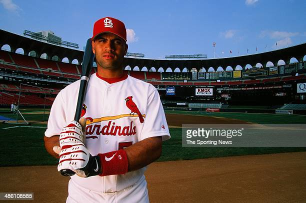 Albert Pujols of the St Louis Cardinals poses for a portrait on June 27 2001