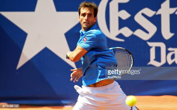 Albert Ramos during the match against Andy Murray corresponding to the Barcelona Open Banc Sabadell on April 28 2017