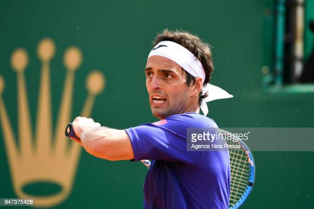 Albert Ramos Vinolas of Spain during the Monte Carlo Rolex Masters 1000 at Monte Carlo on April 16 2018 in Monaco Monaco