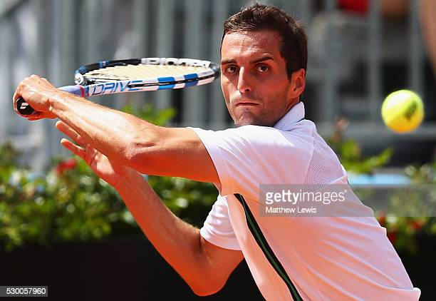 Albert RamosVinolas of Spain in action against Thomas Berdych of the Czech Republic during day three of The Internazionali BNL d'Italia 2016 on May...