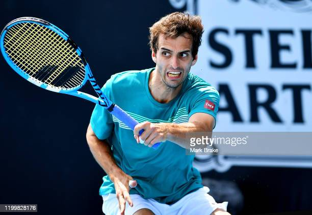 Albert Ramos-Vinolas of Spain in his match against Tommy Paul of the USA during day five of the 2020 Adelaide International at Memorial Drive on...