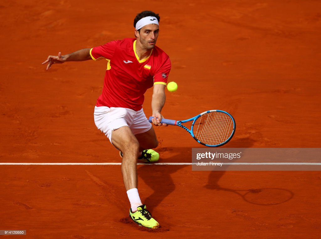 Spain v Great Britain - Davis Cup by BNP Paribas World Group First Round - Day 3 : News Photo