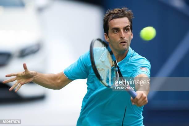 Albert RamosVinolas of Spain returns a shot during the Men's singles match against Pablo Carreno Busta of Spain on day three of 2017 ATP Shanghai...