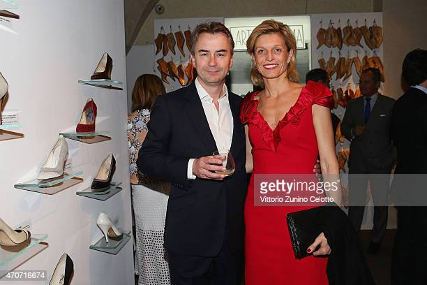 Albert Read Deputy Managing Director Conde' Naste UK and Carol Cornuau attend the Conde' Nast International Luxury Conference Drinks Reception hosted...