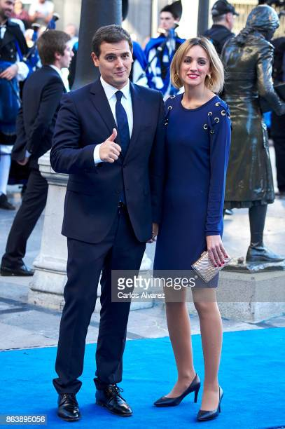 Albert Rivera and Beatriz Tajuelo attend the Princesa de Asturias Awards 2017 ceremony at the Campoamor Theater on October 20 2017 in Oviedo Spain