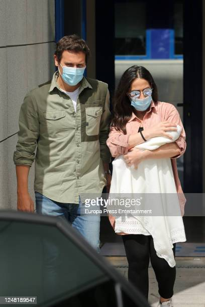 Albert Rivera and Malu present their newborn child Lucia on June 08 2020 in Madrid Spain