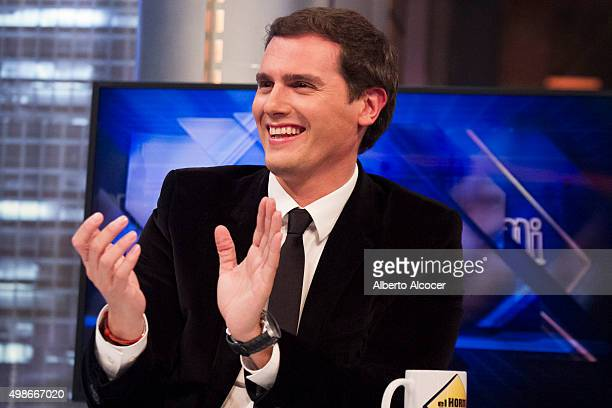 Albert Rivera attends 'El Hormiguero' Tv Show on November 24 2015 in Madrid Spain