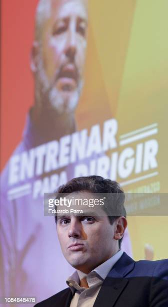 Albert Rivera attends the 'Entrenar para dirigir' book presentation at Abante space on December 19 2018 in Madrid Spain