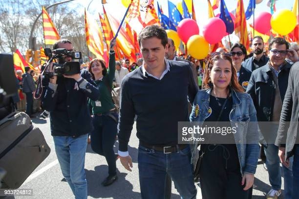 Albert Rivera during Unionist demonstration organized by the Catalan Civil Society on 18th March 2018 in Barcelona Spain